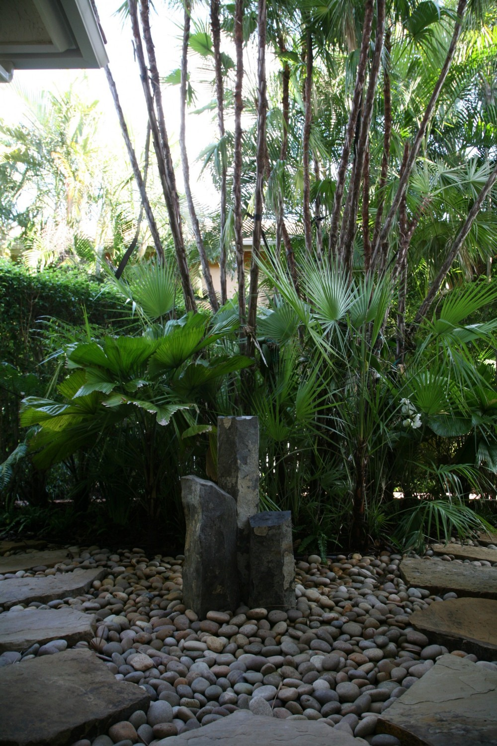 zen garden at Ocean Ridge residence