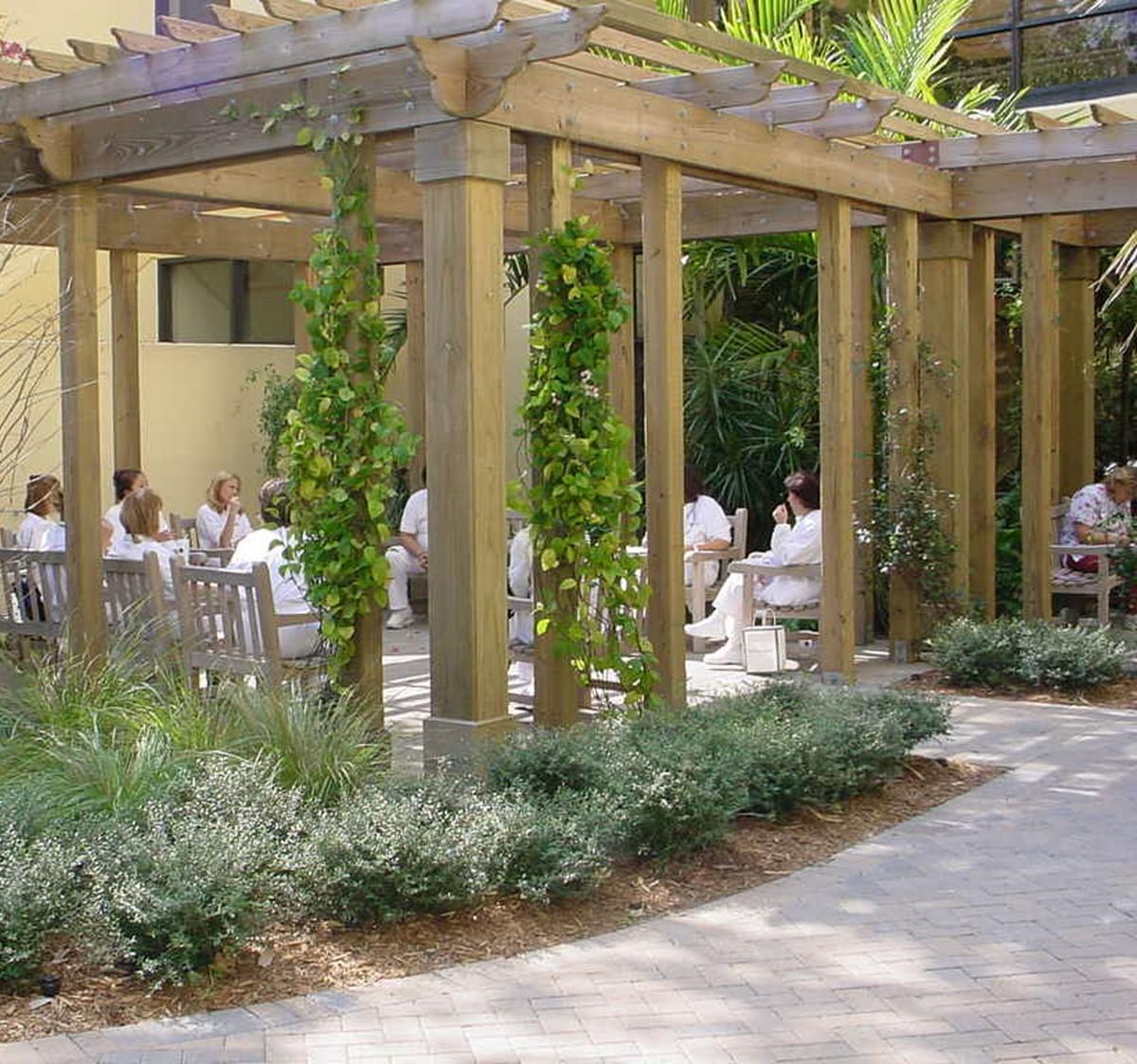 Healing gardens in hospitals
