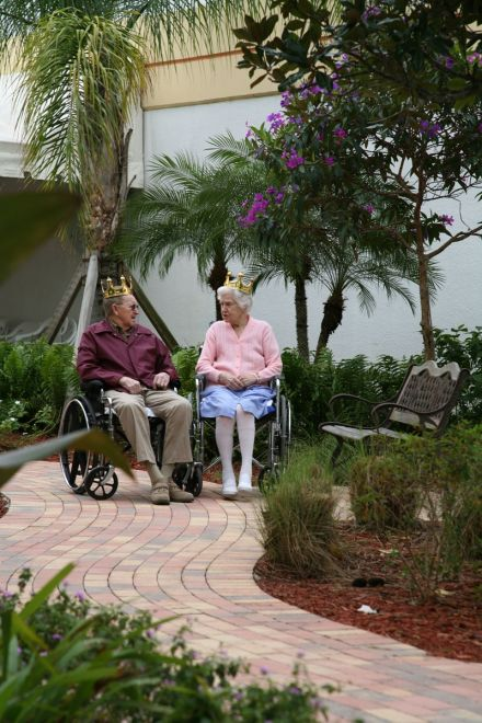 two residents are king and queen for the day as they share a peaceful birthday in - The Garden Nursing Home